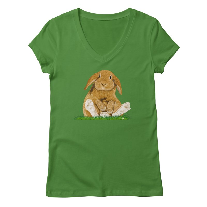 Bunny Women's V-Neck by cmatthesart's Artist Shop