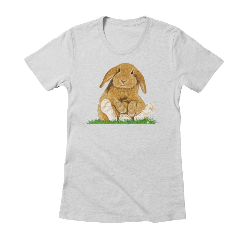 Bunny Women's Fitted T-Shirt by cmatthesart's Artist Shop