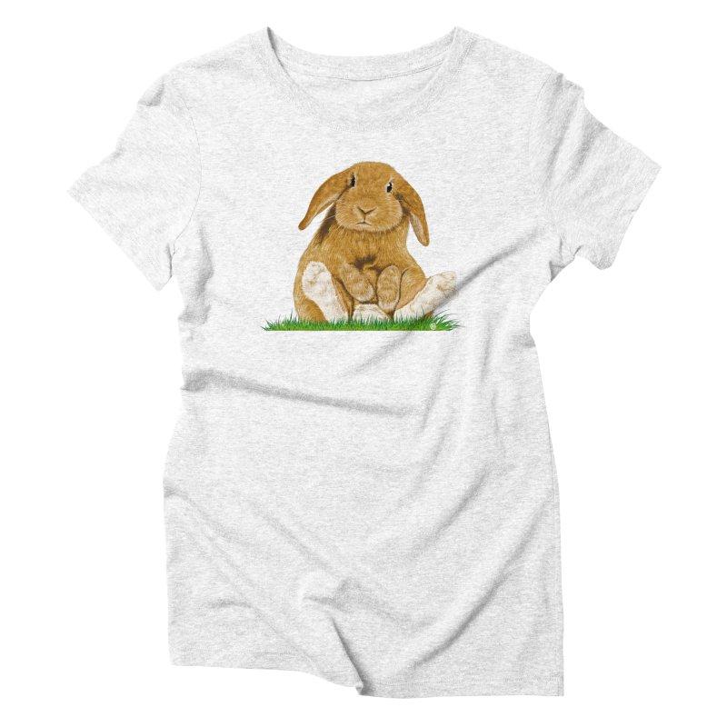 Bunny Women's Triblend T-shirt by cmatthesart's Artist Shop