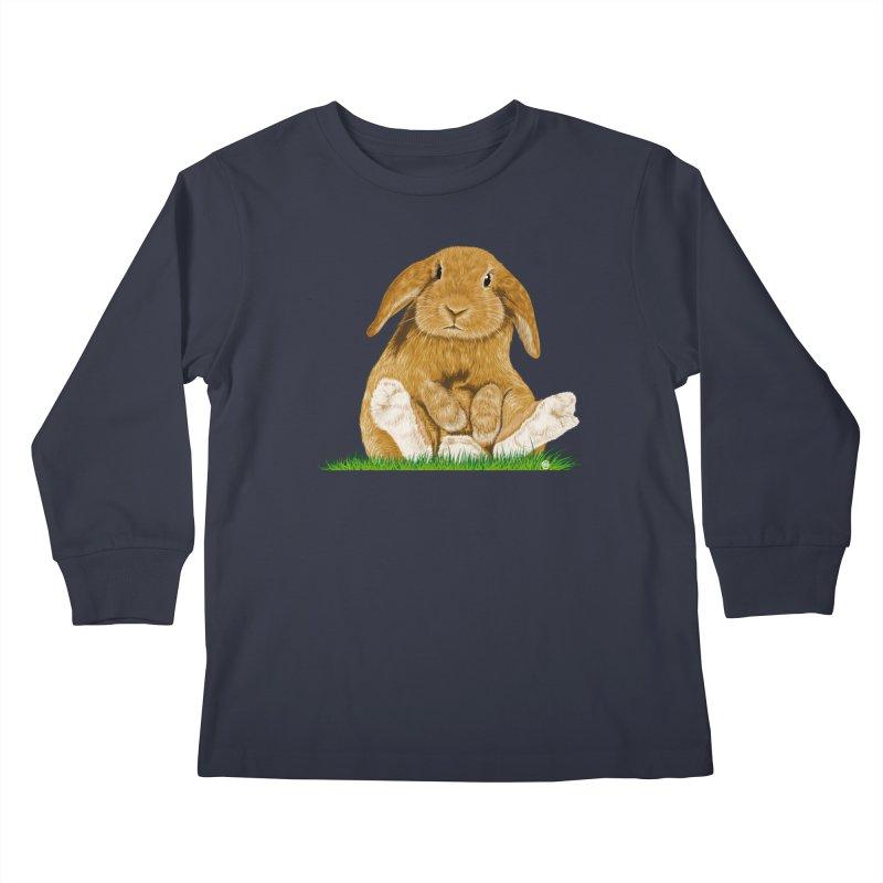 Bunny Kids Longsleeve T-Shirt by cmatthesart's Artist Shop
