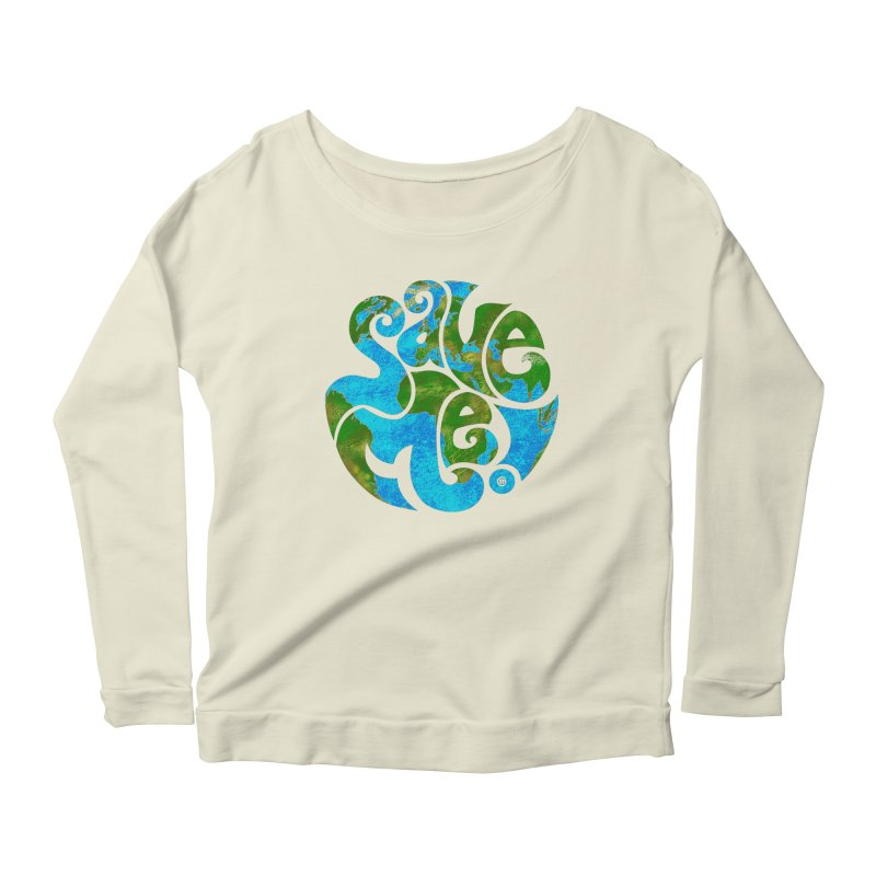 Save Me! Women's Longsleeve Scoopneck  by cmatthesart's Artist Shop