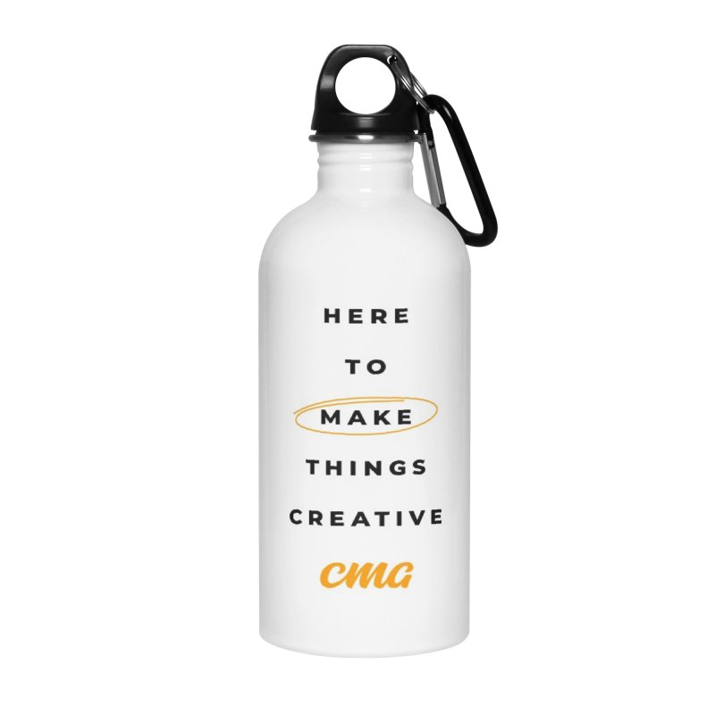 Here To Make Things Creative - Black Text in Water Bottle by Church Motion Graphics