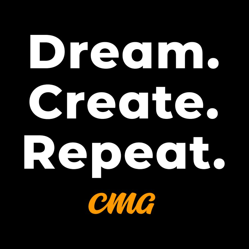 Dream Create Repeat - White Text Men's T-Shirt by Church Motion Graphics