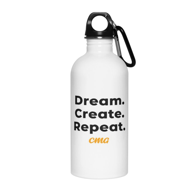 Dream Create Repeat - Black Text in Water Bottle by Church Motion Graphics