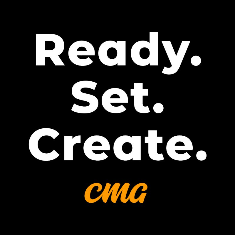Ready Set Create - White Text Men's T-Shirt by Church Motion Graphics