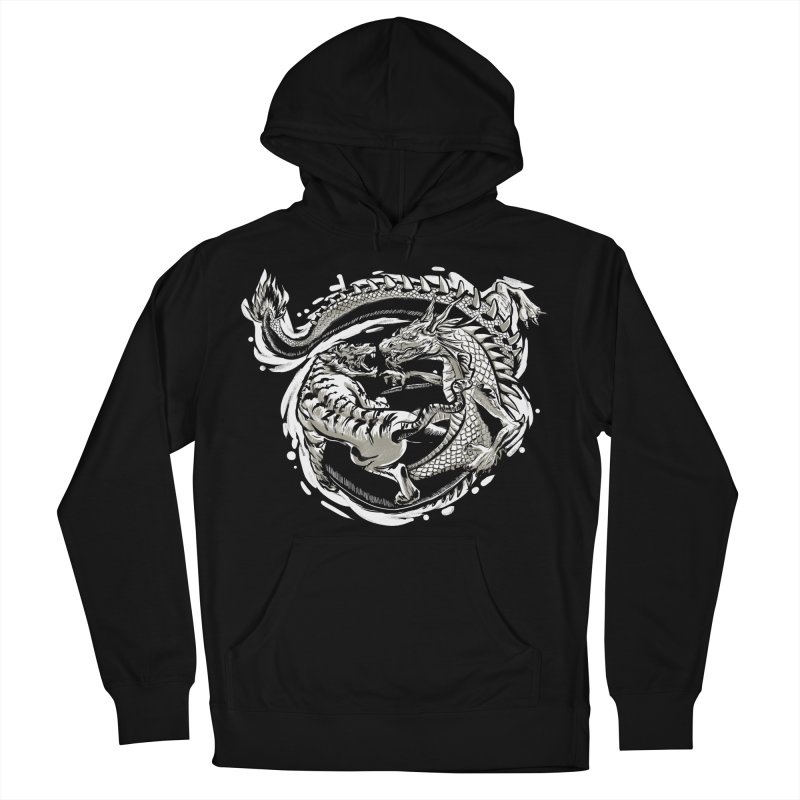 Tigers vs Dragon Women's French Terry Pullover Hoody by cmn artist shop