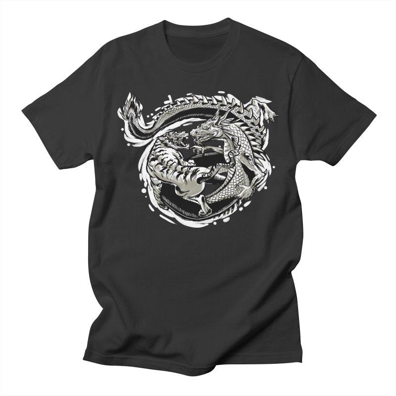 Tigers vs Dragon Men's T-Shirt by cmn artist shop