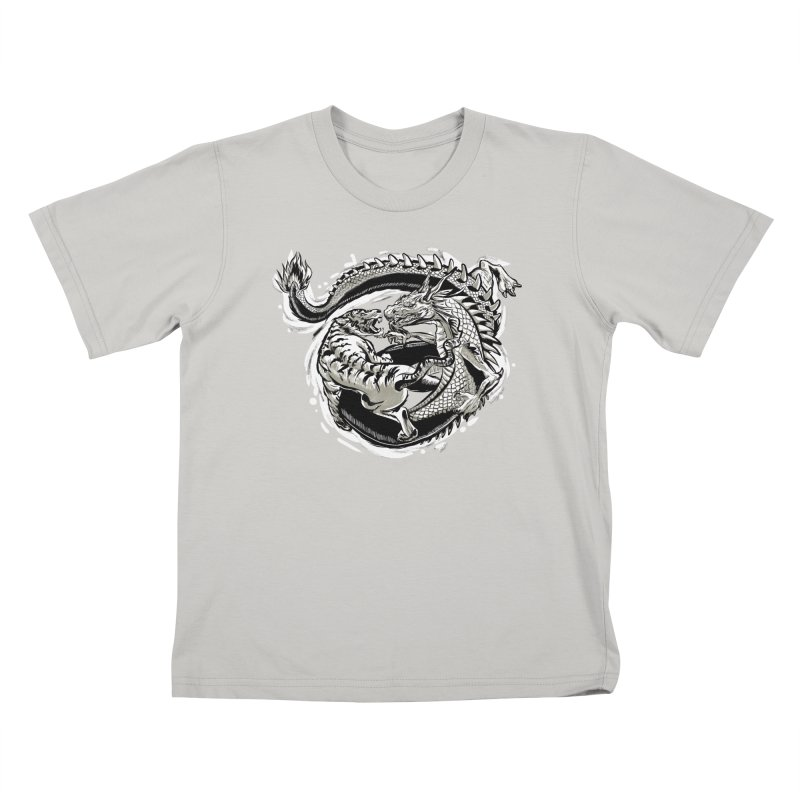 Tigers vs Dragon Kids T-Shirt by cmn artist shop