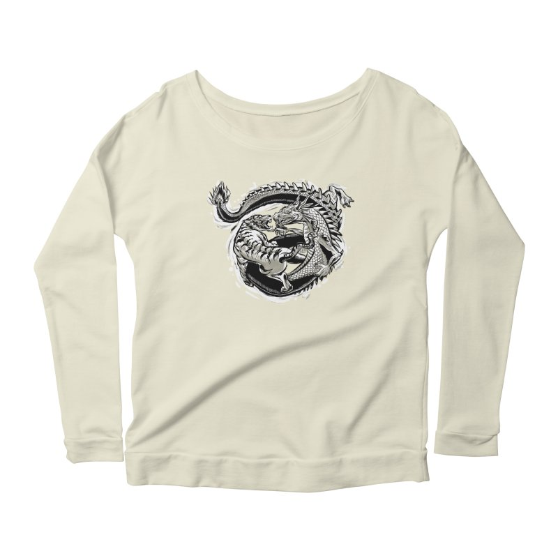Tigers vs Dragon Women's Longsleeve Scoopneck  by cmn artist shop