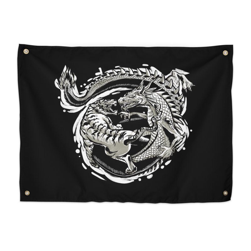 Tigers vs Dragon Home Tapestry by cmn artist shop