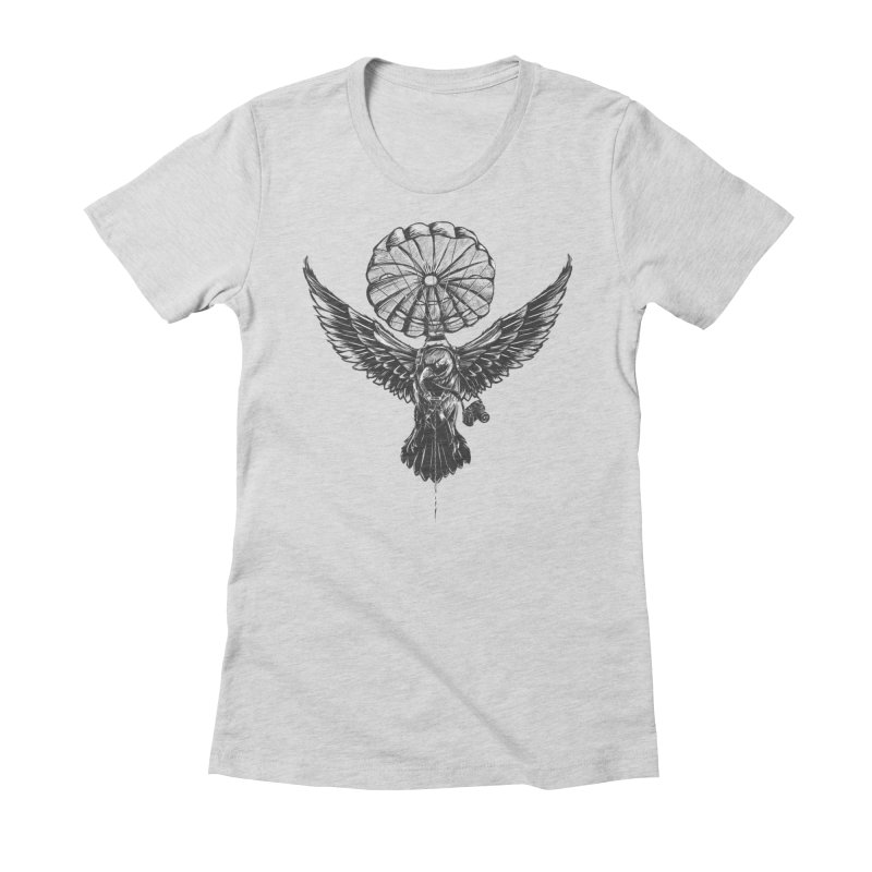 I belive i can fly Women's Fitted T-Shirt by cmn artist shop