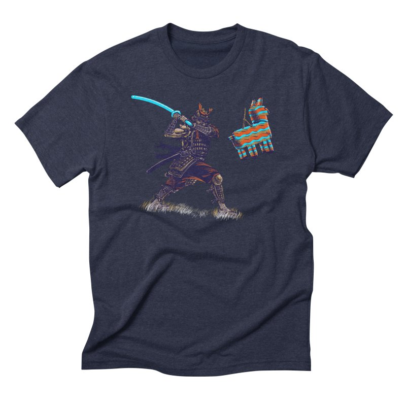 Samurai party Men's Triblend T-Shirt by cmn artist shop