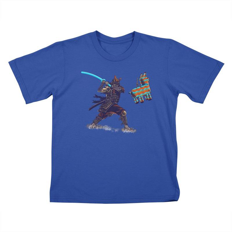 Samurai party Kids T-Shirt by cmn artist shop