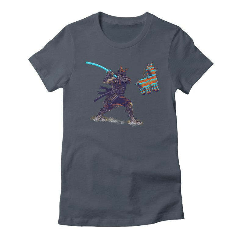 Samurai party Women's Fitted T-Shirt by cmn artist shop