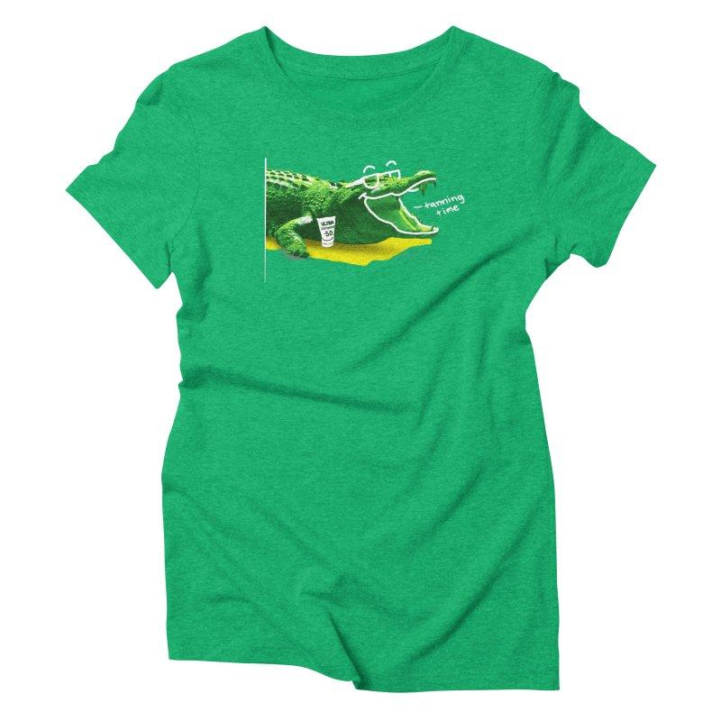 Tanning time Women's Triblend T-Shirt by cmn artist shop