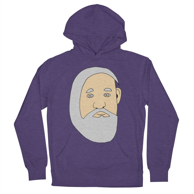 Comb Over Beard Men's French Terry Pullover Hoody by cmschulz's Artist Shop