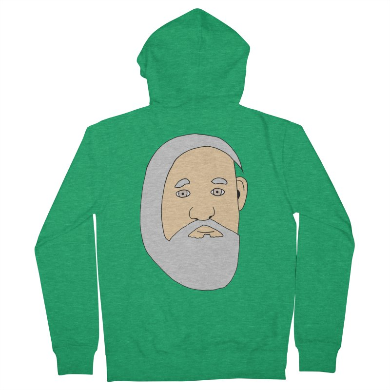 Comb Over Beard Men's Zip-Up Hoody by cmschulz's Artist Shop