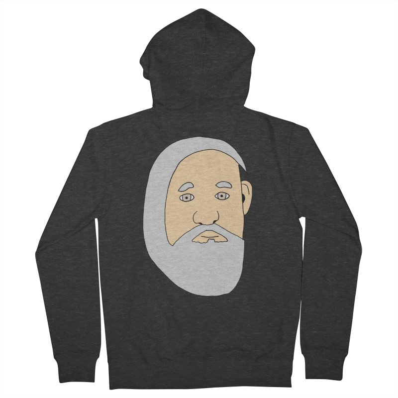 Comb Over Beard Men's French Terry Zip-Up Hoody by cmschulz's Artist Shop