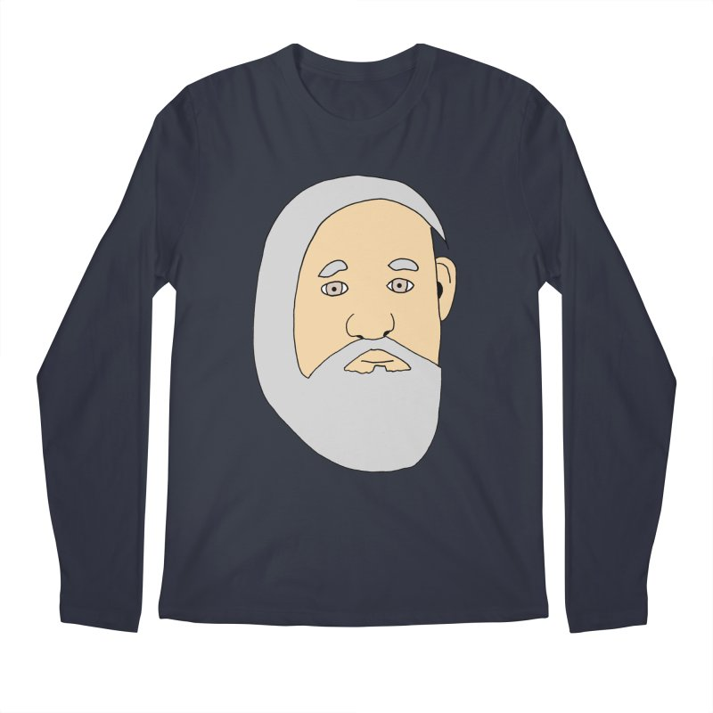 Comb Over Beard Men's Regular Longsleeve T-Shirt by cmschulz's Artist Shop