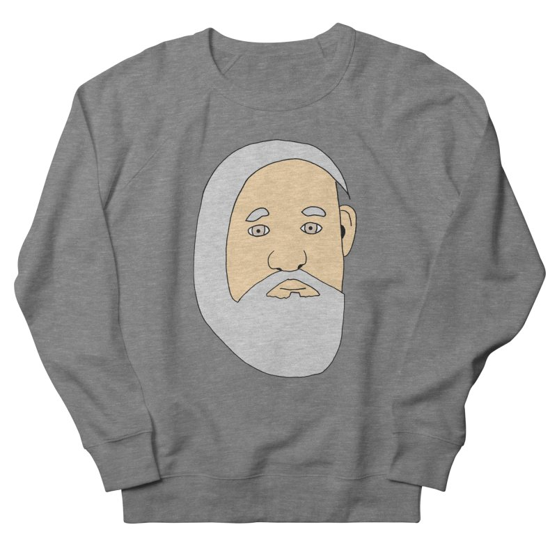 Comb Over Beard Men's French Terry Sweatshirt by cmschulz's Artist Shop