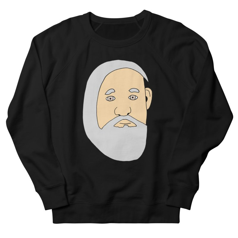 Comb Over Beard Men's French Terry Sweatshirt by cmschulz's Artist Shop