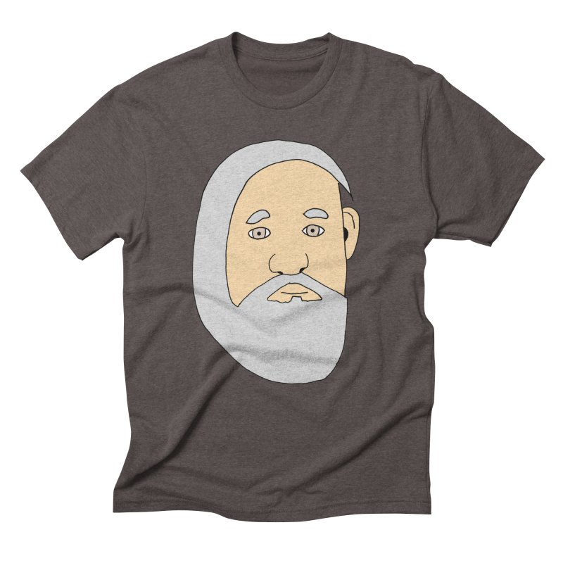 Comb Over Beard Men's Triblend T-Shirt by cmschulz's Artist Shop
