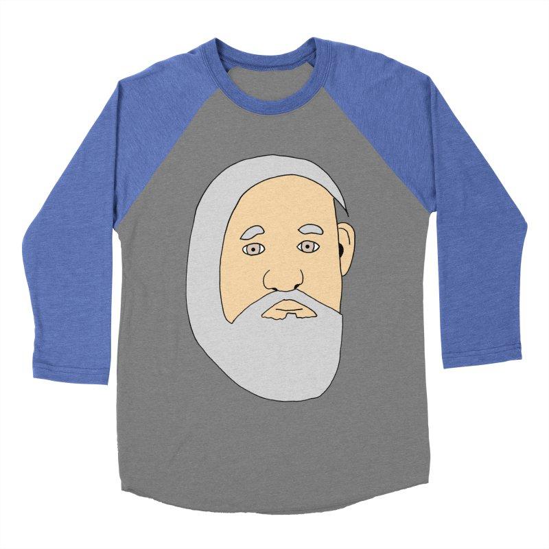 Comb Over Beard Men's Baseball Triblend T-Shirt by cmschulz's Artist Shop