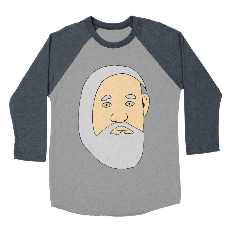 Comb Over Beard Men's Baseball Triblend Longsleeve T-Shirt by cmschulz's Artist Shop