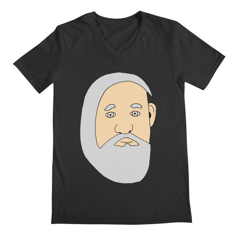 Comb Over Beard Men's V-Neck by cmschulz's Artist Shop
