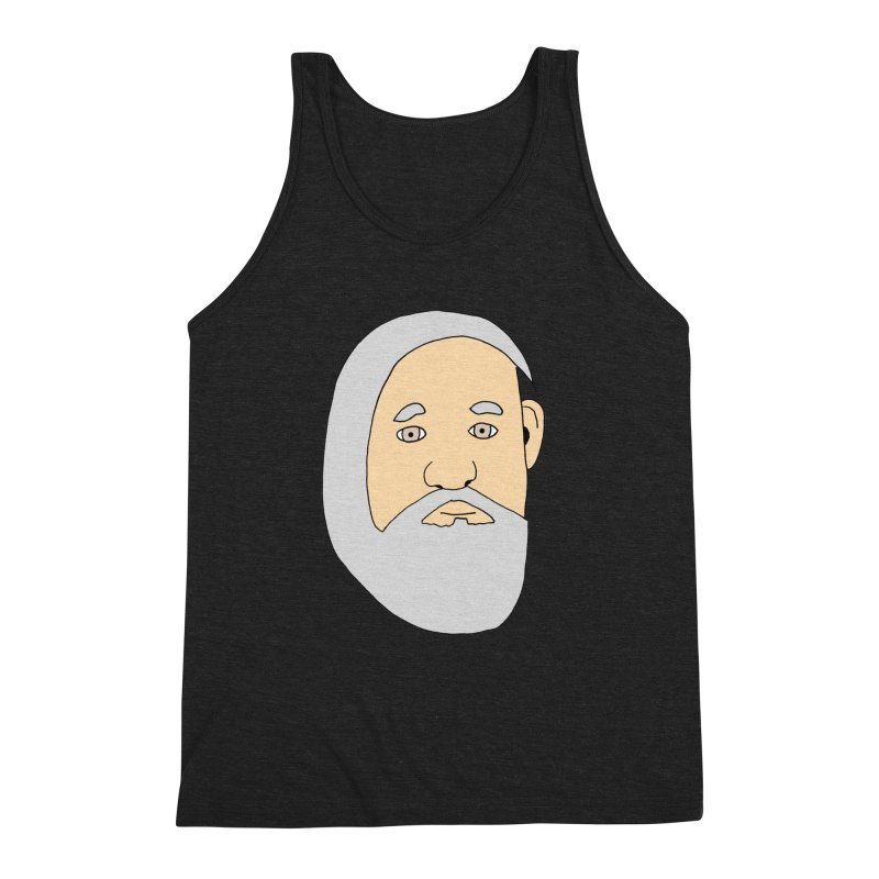 Comb Over Beard Men's Triblend Tank by cmschulz's Artist Shop