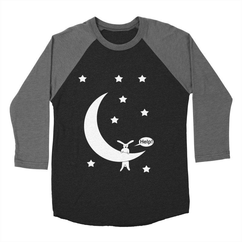 Rabbit Hanging From Moon Women's Longsleeve T-Shirt by cmschulz's Artist Shop