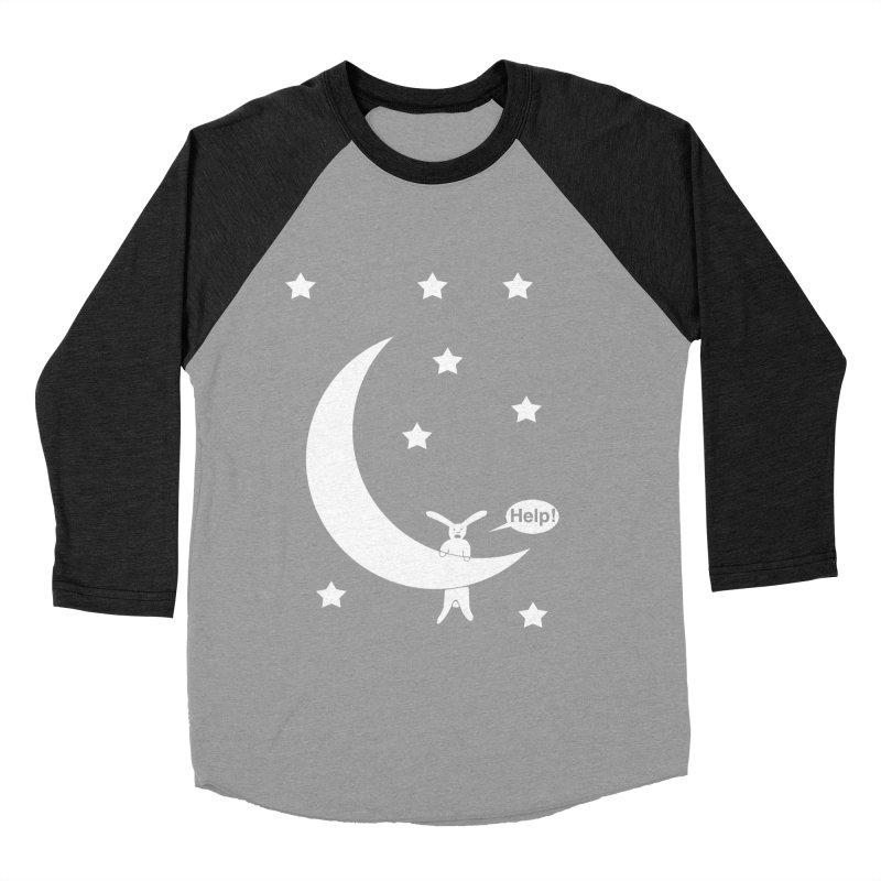 Rabbit Hanging From Moon Men's Longsleeve T-Shirt by cmschulz's Artist Shop