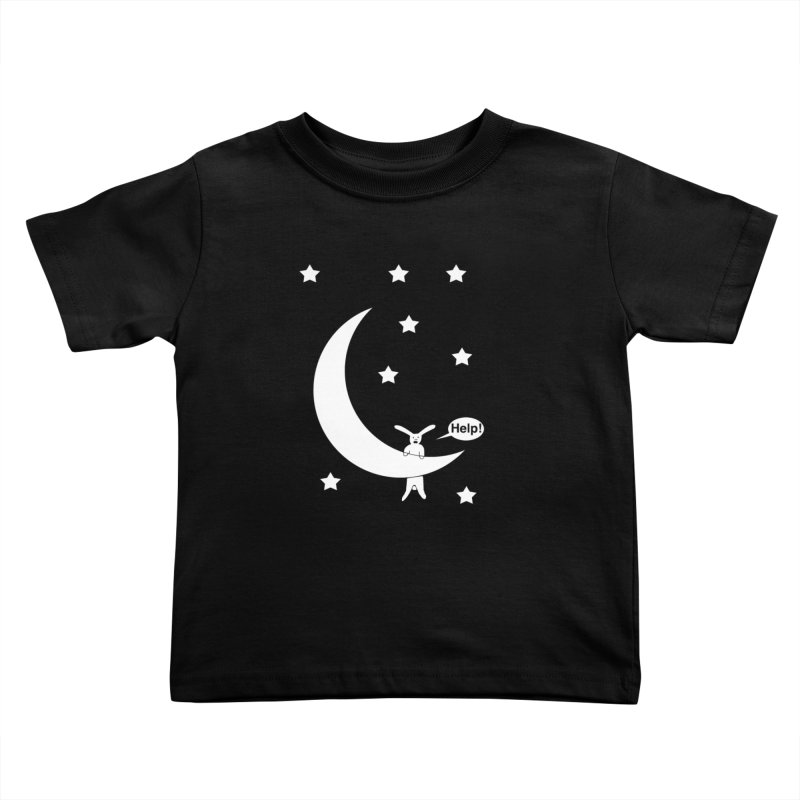 Rabbit Hanging From Moon Kids Toddler T-Shirt by cmschulz's Artist Shop
