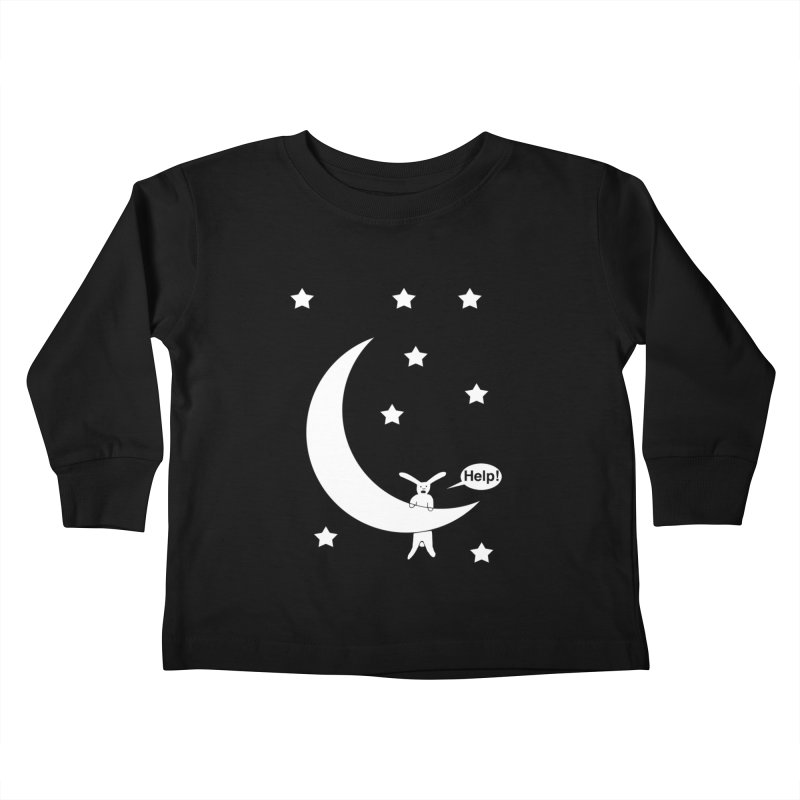 Rabbit Hanging From Moon Kids Toddler Longsleeve T-Shirt by cmschulz's Artist Shop