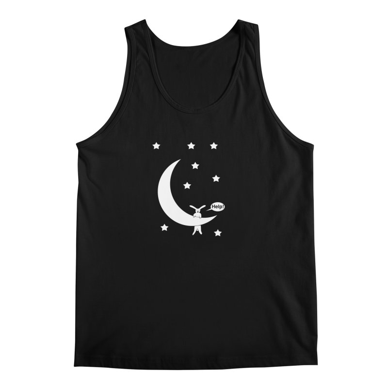 Rabbit Hanging From Moon Men's Tank by cmschulz's Artist Shop