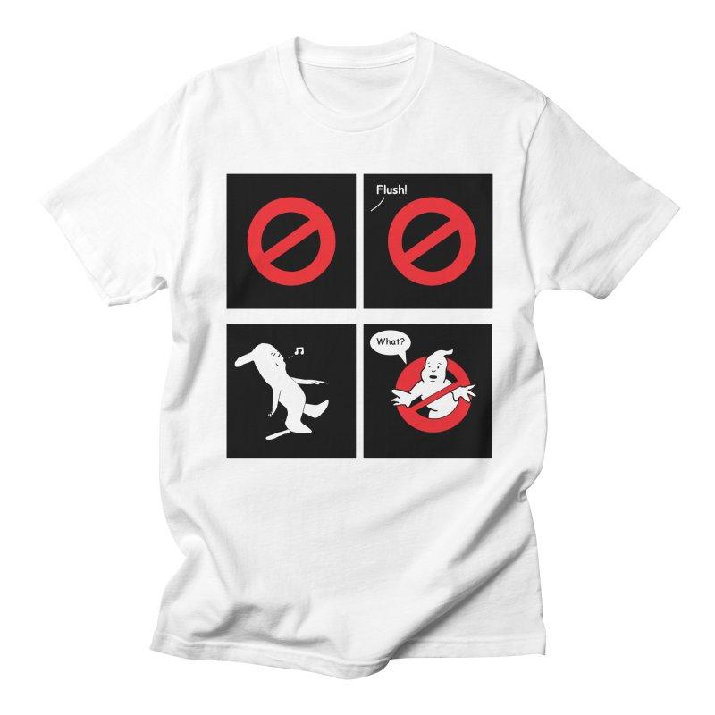 Ghostbuster Logo Takes a Break Men's T-Shirt by cmschulz's Artist Shop