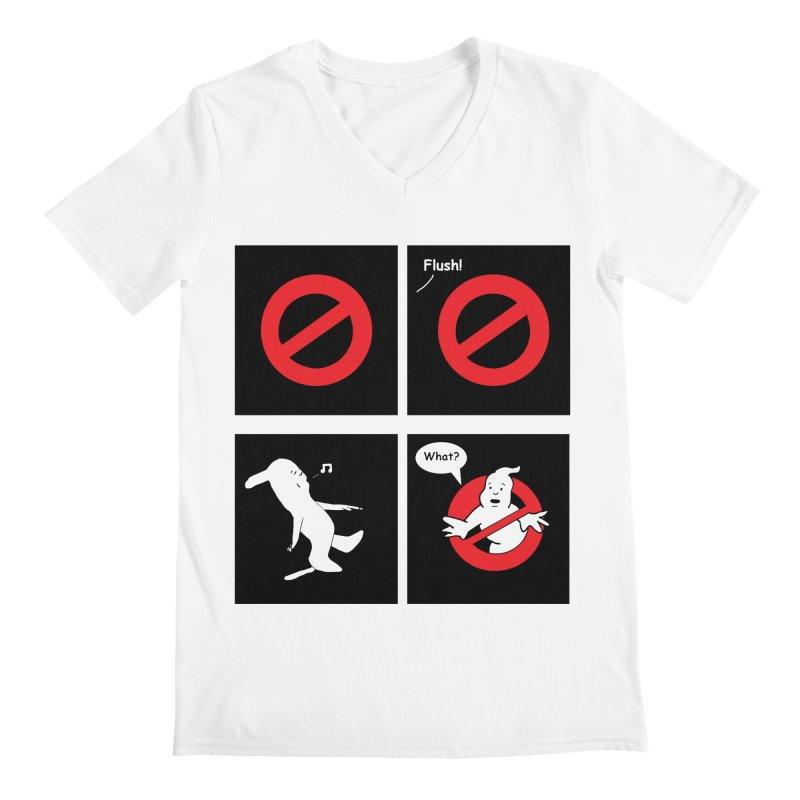 Ghostbuster Logo Takes a Break Men's V-Neck by cmschulz's Artist Shop
