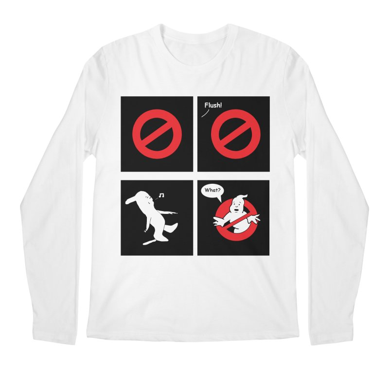Ghostbuster Logo Takes a Break Men's Regular Longsleeve T-Shirt by cmschulz's Artist Shop