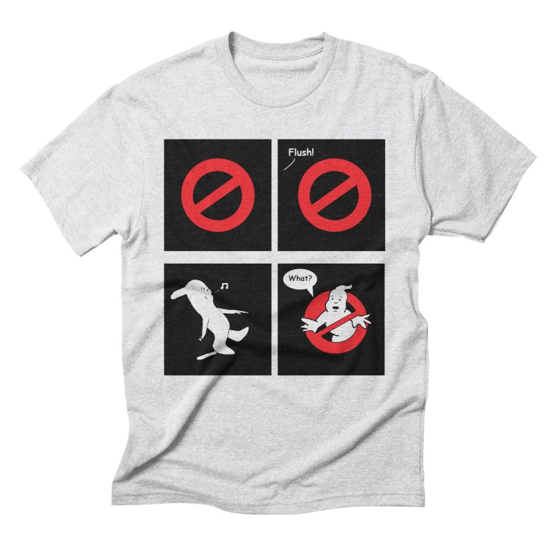 Ghostbuster Logo Takes a Break Men's Triblend T-Shirt by cmschulz's Artist Shop