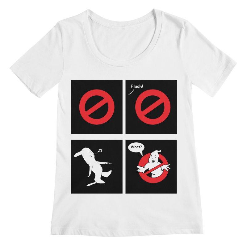 Ghostbuster Logo Takes a Break Women's Regular Scoop Neck by cmschulz's Artist Shop