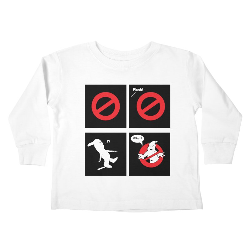 Ghostbuster Logo Takes a Break Kids Toddler Longsleeve T-Shirt by cmschulz's Artist Shop