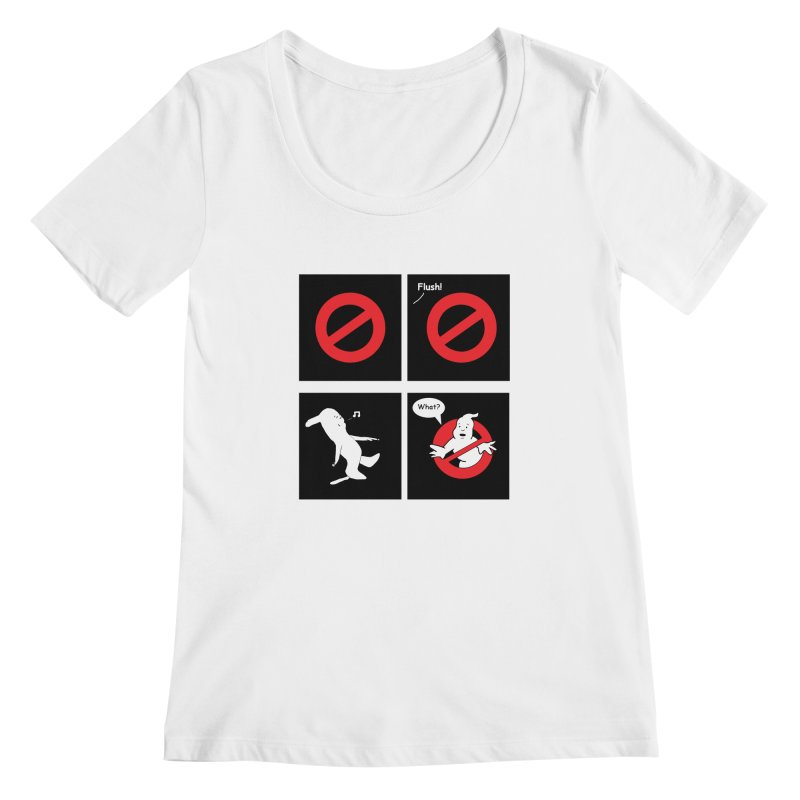Ghostbuster Logo Takes a Break Women's Scoopneck by cmschulz's Artist Shop