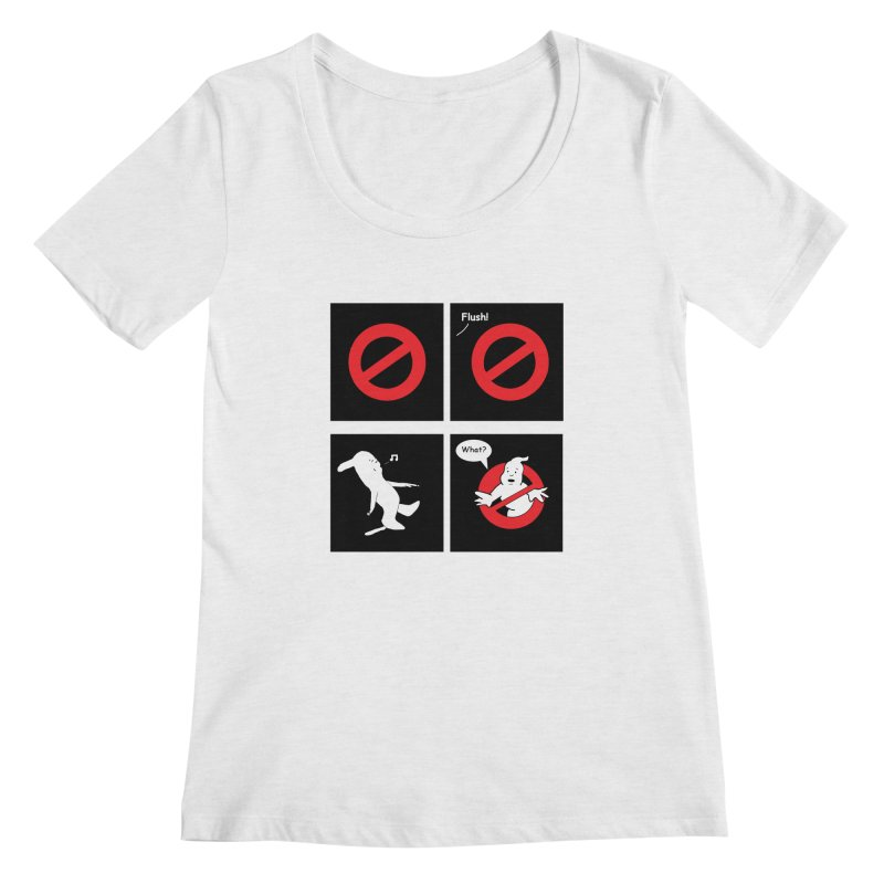 Ghostbuster Logo Takes a Break Women's Regular Scoop Neck by cmschulz's Artist Shop