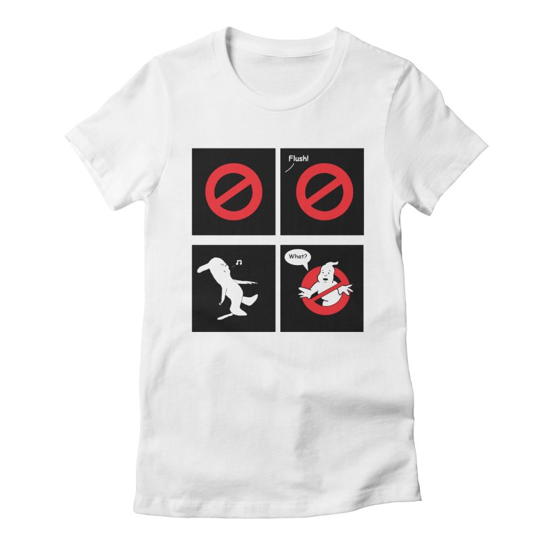 Ghostbuster Logo Takes a Break Women's Fitted T-Shirt by cmschulz's Artist Shop
