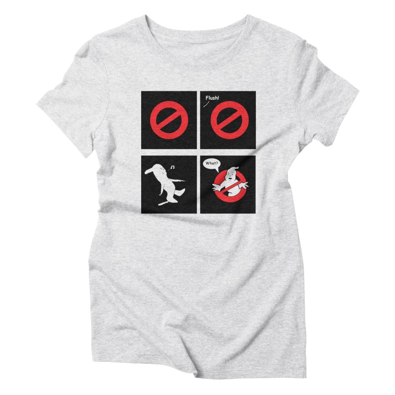 Ghostbuster Logo Takes a Break Women's Triblend T-Shirt by cmschulz's Artist Shop