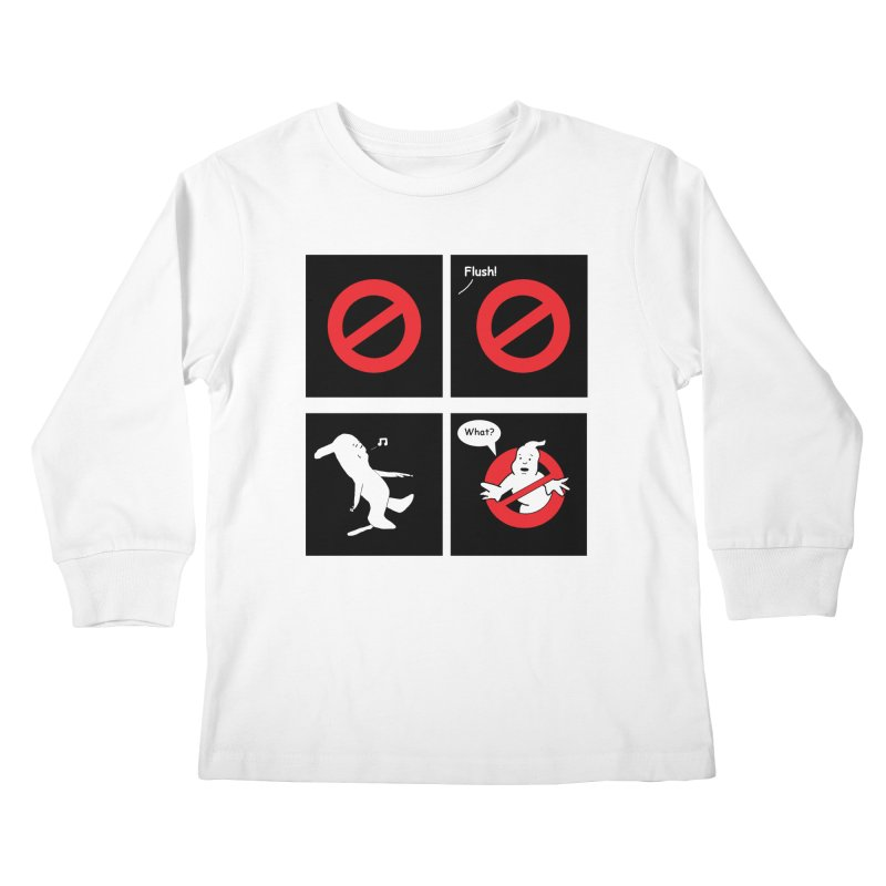 Ghostbuster Logo Takes a Break Kids Longsleeve T-Shirt by cmschulz's Artist Shop