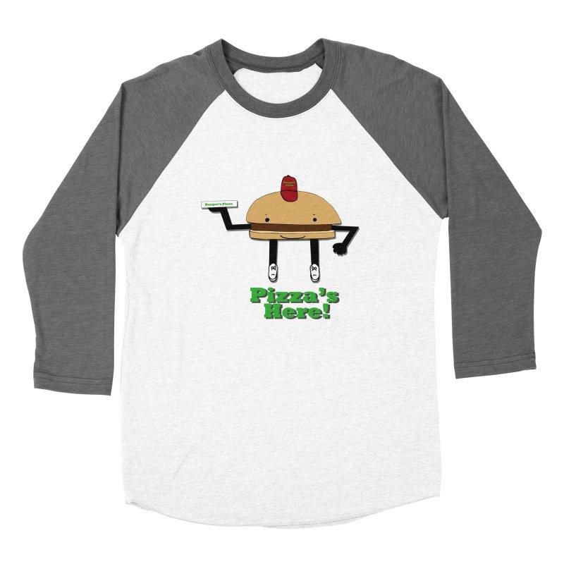 Burger Pizza Women's Longsleeve T-Shirt by cmschulz's Artist Shop