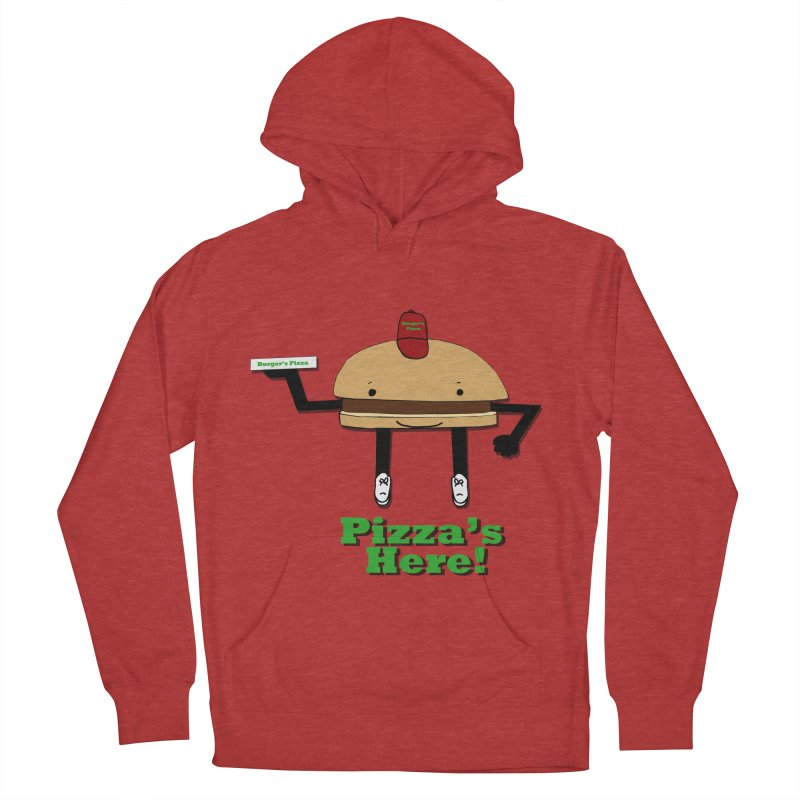 Burger Pizza Men's French Terry Pullover Hoody by cmschulz's Artist Shop