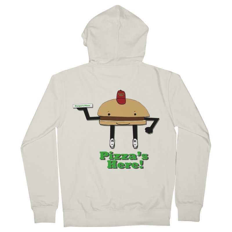Burger Pizza Women's French Terry Zip-Up Hoody by cmschulz's Artist Shop