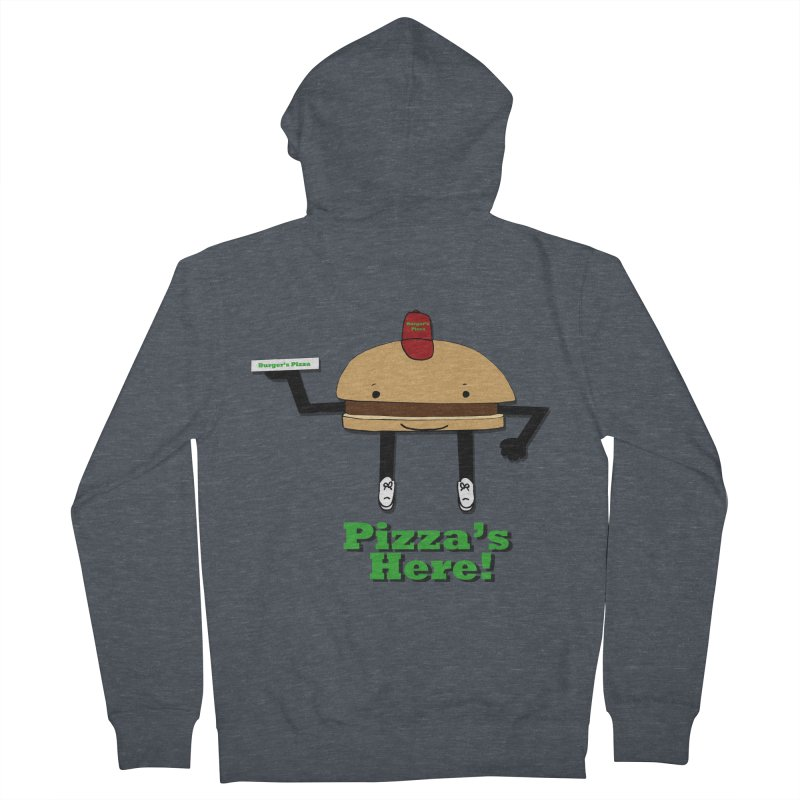 Burger Pizza Men's French Terry Zip-Up Hoody by cmschulz's Artist Shop